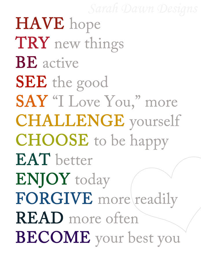 good resolutions for 2017